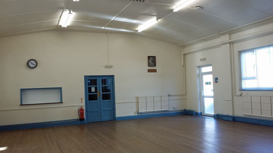 Whetstone Memorial Hall - main hall view towards rear